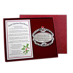 Pewter Merry Christmas From Heaven Ornament & Bookmark - Centerville C&J Connection, Inc.
