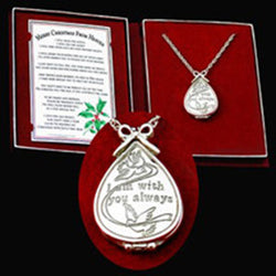 Silver Merry Christmas From Heaven Locket - Centerville C&J Connection, Inc.