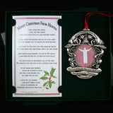 Pewter Merry Christmas From Heaven Picture Ornament - Centerville C&J Connection, Inc.