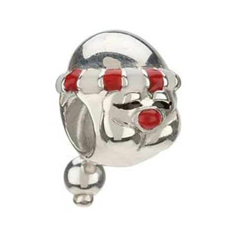 Silver Enamel Kris Kringle Santa Bead - Chamilia - Centerville C&J Connection, Inc.