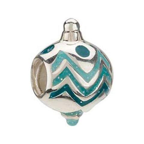 Silver Enamel Holiday Ornament Bead - Chamilia - Centerville C&J Connection, Inc.