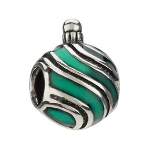 Silver Enamel Stripes Ornament Bead - Chamilia - Centerville C&J Connection, Inc.