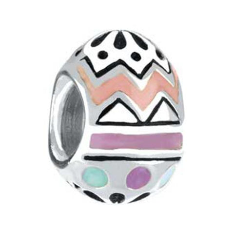 Silver Enamel Easter Egg Bead - Chamilia - Centerville C&J Connection, Inc.