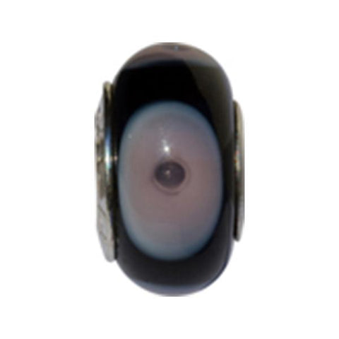 Amethyst Eyes Murano Glass Bead - Centerville C&J Connection, Inc.