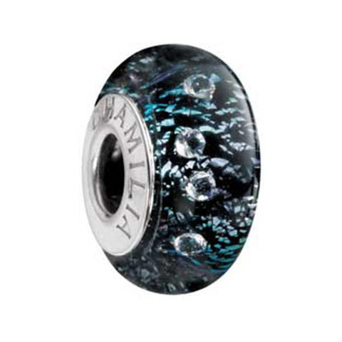 Murano Gls Radiance Black Shine Bead - Chamilia - Centerville C&J Connection, Inc.