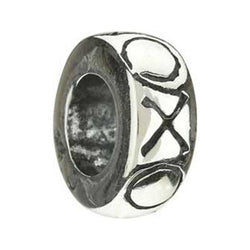 Silver Spacer XOXO Bead - Centerville C&J Connection, Inc.