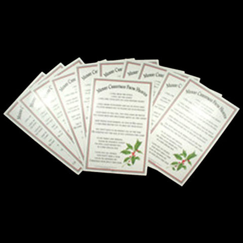 Mooney TunCo Merry Christmas from Heaven Bookmarks Pack of 25 - Centerville C&J Connection, Inc.