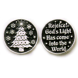 Christmas Tree Pewter Pocket Token PT116 - Centerville C&J Connection, Inc.