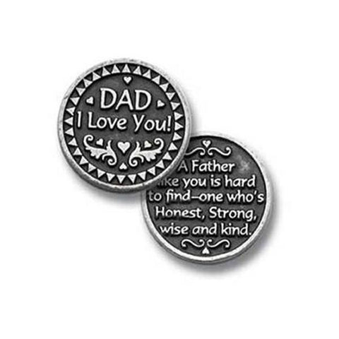 Dad Pewter Pocket Token - Centerville C&J Connection, Inc.
