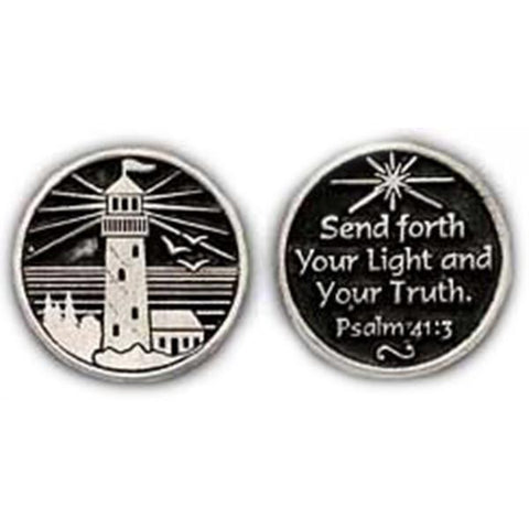 Lighthouse Pewter Pocket Token - Centerville C&J Connection, Inc.