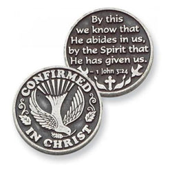 Confirmed In Christ Pewter Pocket Token - Centerville C&J Connection, Inc.