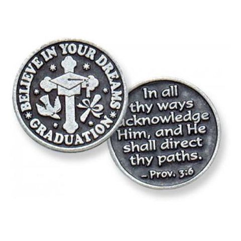 Graduation Pewter Pocket Token - Centerville C&J Connection, Inc.