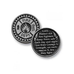 Firefighter Pewter Pocket Token PT129 - Centerville C&J Connection, Inc.