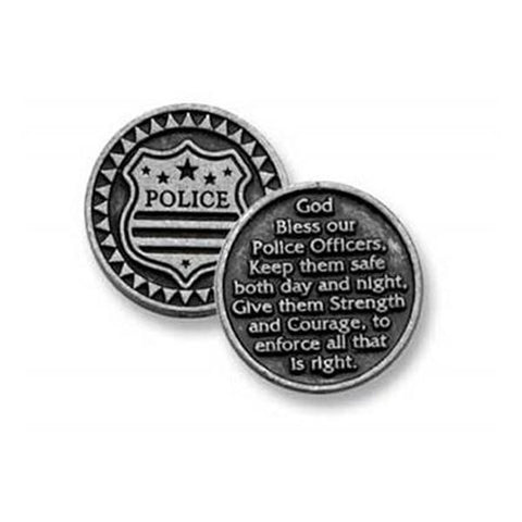 Police Pewter Pocket Token PT130 - Centerville C&J Connection, Inc.