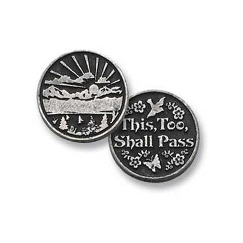 This, Too, Shall Pass Pewter Pocket Token PT142 - Centerville C&J Connection, Inc.