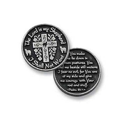 The Lord Is My Shepherd Pocket Token PT170 - Centerville C&J Connection, Inc.