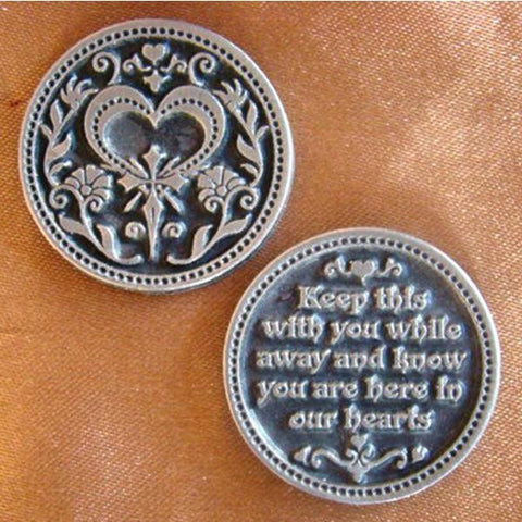 Your Are In Our Hearts Pewter Pocket Token - Centerville C&J Connection, Inc.