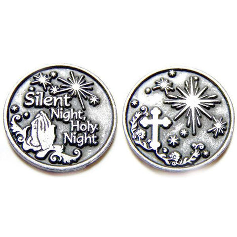 Silent Night, Holy Night Pewter Pocket Token PT191 - Centerville C&J Connection, Inc.
