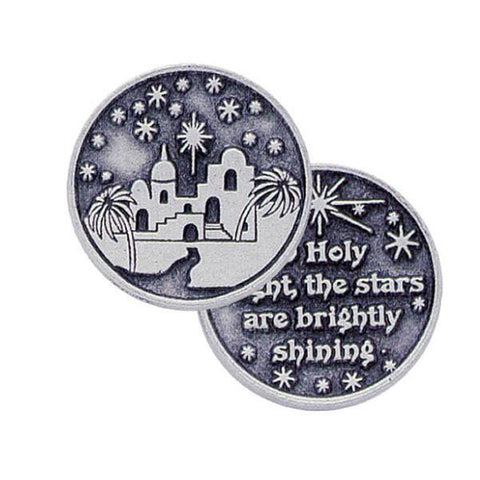O Holy Night Pewter Pocket Token PT192 - Centerville C&J Connection, Inc.