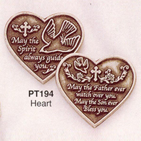 Heart Pewter Pocket Token PT194 - Centerville C&J Connection, Inc.