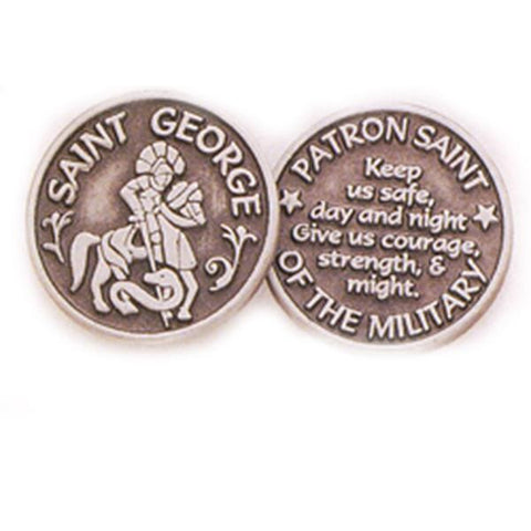 Saint George Pewter Pocket Token PT402 - Centerville C&J Connection, Inc.