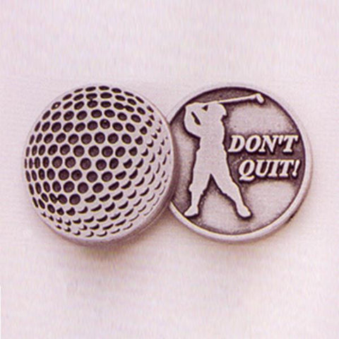 Golf / Don't Quit Pewter Pocket Token PT451 - Centerville C&J Connection, Inc.