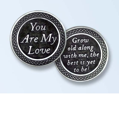 You Are My Love Pewter Pocket Token PT468 - Centerville C&J Connection, Inc.