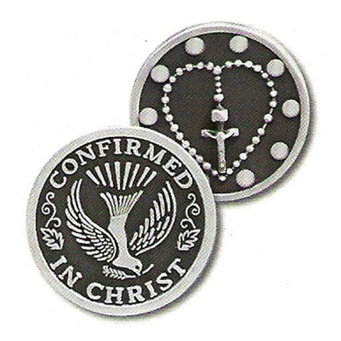 Confirmation Rosary Pewter Pocket Token - Centerville C&J Connection, Inc.