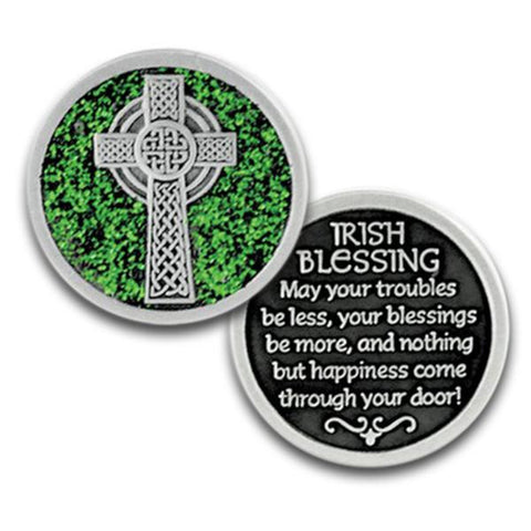 Irish Blessings Enameled Companion Coin / Pocket Token PT622 - Centerville C&J Connection, Inc.