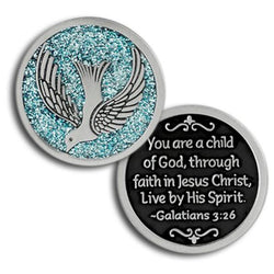 Child of God Enameled Companion Coin / Pocket Token PT624 - Centerville C&J Connection, Inc.