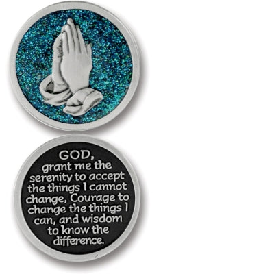 Serenity Prayer Enameled Companion Coin / Pocket Token PT626 - Centerville C&J Connection, Inc.