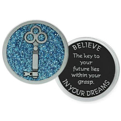 Believe In Your Dreams Colored Enamel Pocket Token PT657 - Centerville C&J Connection, Inc.