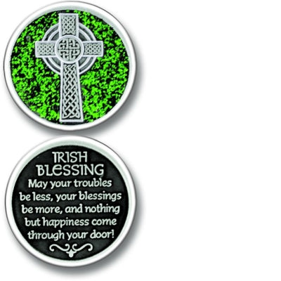 Irish Blessings Enameled Companion Coin / Pocket Token PT661 - Centerville C&J Connection, Inc.