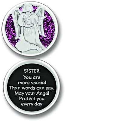 Sister Angel Enameled Companion Coin / Pocket Token PT671 - Centerville C&J Connection, Inc.