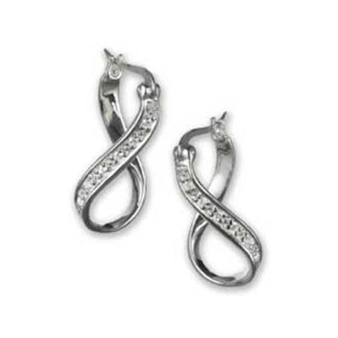 Bead Earrings Silver Infinity CZ - Chamilia - Centerville C&J Connection, Inc.