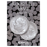 Roosevelt Dime Starter Collection Kit, Part One, H.E. Harris [2684] Roosevelt Dime Folder Vol. 1, Five Silver Dimes, Magnifier & Checklist - Centerville C&J Connection, Inc.