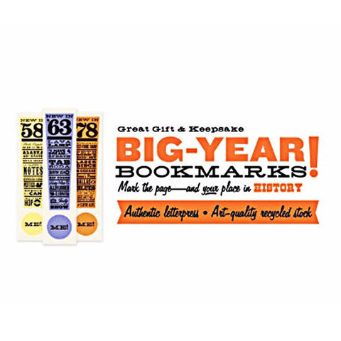 """Big-Year"" Letterpress Bookmark - Centerville C&J Connection, Inc."