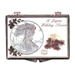 Christmas Silver American Eagle Snaplock Displays - Centerville C&J Connection, Inc.