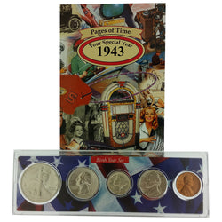 1943 Year Coin Set & Greeting Card : 74th Birthday or 74th Anniversary Gift - Centerville C&J Connection, Inc.