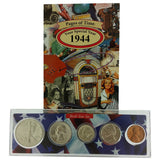 1944 Year Coin Set & Greeting Card : 77th Birthday or 77th Anniversary Gift - Centerville C&J Connection, Inc.
