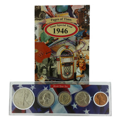 1946 Year Coin Set & Greeting Card : 71st Birthday or 71st Anniversary Gift