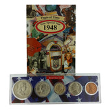 1948 Year Coin Set & Greeting Card : 69th Birthday or 69th Anniversary Gift - Centerville C&J Connection, Inc.