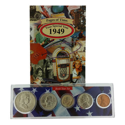 1949 Year Coin Set & Greeting Card : 68th Birthday or 68th Anniversary Gift