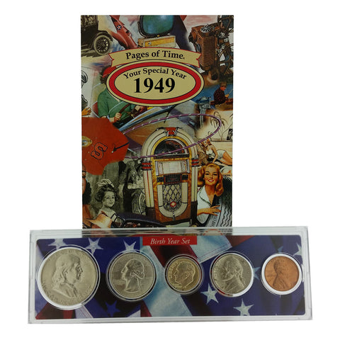 1949 Year Coin Set & Greeting Card : 70th Birthday or 70th Anniversary Gift - Centerville C&J Connection, Inc.