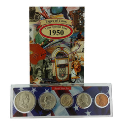 1950 Year Coin Set & Greeting Card : 67th Birthday or 67th Anniversary Gift