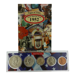 1952 Year Coin Set & Greeting Card : 65th Birthday or 65th Anniversary Gift