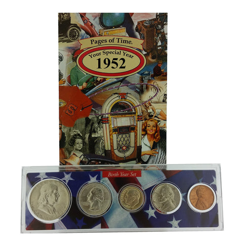 1952 Year Coin Set & Greeting Card : 65th Birthday or 65th Anniversary Gift - Centerville C&J Connection, Inc.
