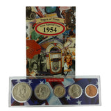 1954 Year Coin Set & Greeting Card : 63rd Birthday or 63rd Anniversary Gift - Centerville C&J Connection, Inc.