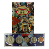 1961 Year Coin Set & Greeting Card : 56th Birthday or 56th Anniversary Gift