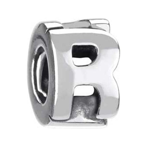"Silver Bead - Letter ""R"" - Chamilia - Centerville C&J Connection, Inc."